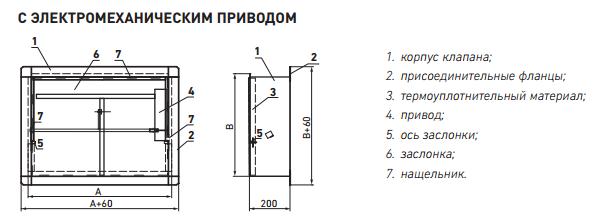 Противопожарный клапан ФАЕР КДФ